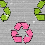 Green Pink Recycle